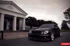 F: / R: Mercedes-Benz E 63 AMG on Vossen Wheels: Photo Collection © 2011 The World Of Mercedes-Benz AMG™. Mercedes E55 Amg, Vossen Wheels, Benz E Class, Custom Wheels, Maybach, Motor Car, Luxury Cars, All Black, Collection
