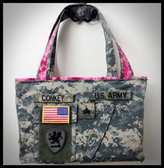 Army ACU Purse  Prototype Discount by PearlsForDogTags on Etsy, $40.00