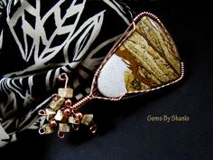 Handmade African Queen picture jasper pendant for necklace by Shanlo