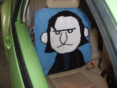 Professor Snape Car Seat Cover from Becky of Becky's Blog #yarn
