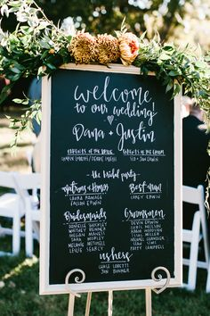 Wedding Program Chalkboard Wedding Program Sign Ideas - Chalkboard is another popular trend for rustic weddings besides burlap and mason jars in these years. There are so many ways to incorporate a chalkboard. Wedding On A Budget, Wedding Ceremony Ideas, Wedding Signage, Wedding Planning, Wedding Reception, Wedding Bells, Wedding Hacks, Wedding Advice, Wedding Wishes