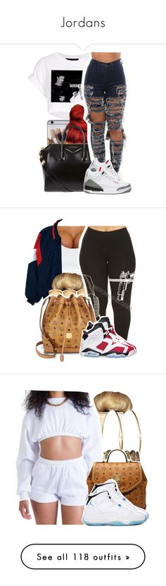 """Jordans"" by ashley-mundoe ❤ liked on Polyvore featuring Givenchy, NIKE, ONLY, ASOS, MCM, Retrò, Jennifer Meyer Jewelry, Joyrich, Michael Kors and Fergie"