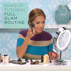 For this makeup tutorial, Marianna Hewitt walks us through a full glam makeup look from start to finish.