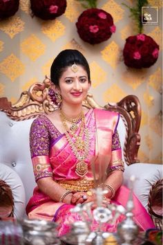 #salwarsuit #salwarsuits #SalwarSuitOnline #salwarsuitmaterial #salwarsuitspartywear #salwarsuitneckdesigns Bridal Sarees South Indian, Wedding Silk Saree, Wedding Saree Blouse Designs, Pattu Saree Blouse Designs, Engagement Saree, Wedding Saree Collection, Designer Blouse Patterns, Bridal Outfits, Trends