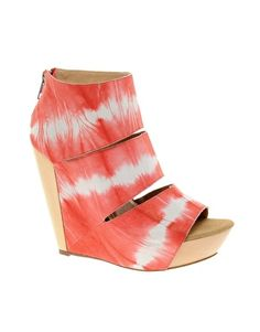Enlarge Messeca Coraline Tie Dye Wedge Shoe Boots on ASOS... sweet for summer, pump up any outfit