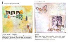 Revista Álbuns Decorados Julho 2014 Trabalhos feitos por Luciana Warnowski