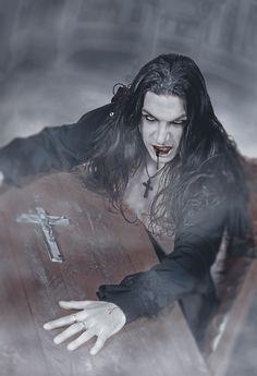 ☆ Awakening :¦: Art By ~LadyBranwick ☆ Vampire Love, Gothic Vampire, Vampire Art, Dark Gothic, Afro Samurai, Samurai Girl, Arte Horror, Horror Art, Dark Fantasy