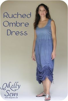 Ruched Ombre Dress Tutorial - Melly Sews