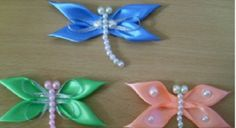 Hang or frame these easy Satin Ribbon Dragonflies. Use them for your crafts and don't miss the Butterfly Chandelier!