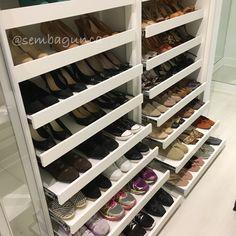 Sapatos organizados by Sem Bagunça @sembagunca