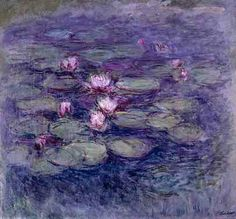 Claude Monet ~ Water Lilies ~ Oil on canvas X 145 cm) ~ Private Collection ~ One of Monet's water lily paintings that was on show at the opening exhibition at the Impressionist Museum in Giverny, ~ by Thomas Monet Paintings, Impressionist Paintings, Landscape Paintings, Claude Monet, Artist Monet, Art Du Monde, Kunst Online, Monet Water Lilies, Art Japonais