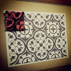Eraser stamp | pattern. printmaking flip slide turn