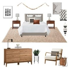 If you're looking for a gender-neutral bedroom, this color palette and design could be for you. With the hints of black, gray, and leather it feels sophisticated, stylish, calm, and timeless. It just takes a few simple patterns in the art and textiles to enliven the simple furniture.