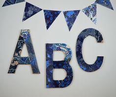 do it yourself alphabet baby room craft