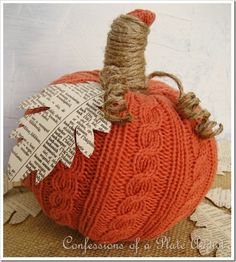 easy sweater pumpkins made with dollar tree faux pumpkins and a sweater from, crafts, decoupage, repurposing upcycling, Easy sweater pumpkins fun and inexpensive to make Sweater Pumpkins, Faux Pumpkins, Fabric Pumpkins, Burlap Pumpkins, Plastic Pumpkins, Pumpkin Crafts, Diy Pumpkin, Paper Pumpkin, Thanksgiving Crafts