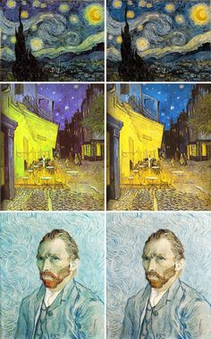 Was van Gogh  color blind?