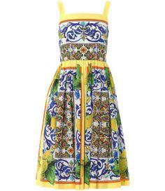 Dolce  Gabbana Lemon Sicilian print full dress