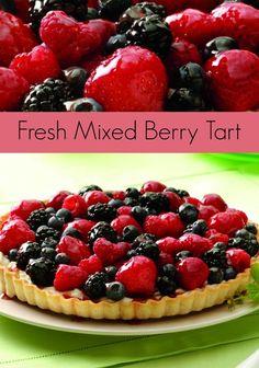 Fresh Mixed Berry Tart Recipe - A taste of summer!