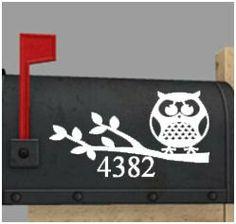 Personalized Owl Mailbox Decal