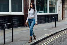 ankle boots asos autumn belt bucket bag fashion glamorous jeans lfw missguided primark rebel london roll neck snake print the apartment zara