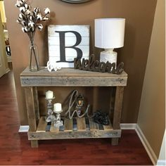 Athena Console Table - You are in the right place about home decor chic Here we offer you the most beautiful pictures abo - Decoration Table, Rustic Decorations For Home, Accent Table Decor, Console Table Decor, At Home Decor, Home Living Room, Rustic Living Room Decor, Rustic Entry Table, Rustic House Decor
