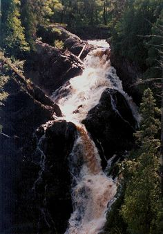"A ""must see"" waterfall near Superior, Wisconsin in Pattison State park"