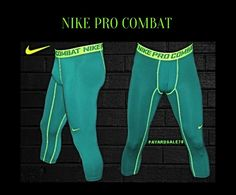 Style: Increase your performance and reduce your recovery time when you wear these Nike® Men's Pro Combat Core Compression Quarter Length Tights. The tight fitting capris are constructed from Dri-FIT® fabric that dries quickly and moves with you. Nike Compression Shorts, Nike Pro Combat, Running Tights, Nike Pros, Air Max, Nike Men, Core, Sweatpants, Athletic
