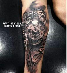 tattoo v tattoo tattoo 2016 watch tattoos time tattoos tattoo clock . Time Piece Tattoo, Time Tattoos, Tattoos For Guys, Forearm Tattoos, Body Art Tattoos, Hand Tattoos, Cool Tattoos, Maori Tattoos, Clock Tattoo Design