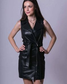 70 Trendy Black Leather Outfit Ideas For Sexier Look - Blurmark