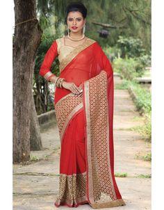 Fabulous Red #Saree