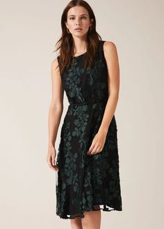 Buy Phase Eight Black Ariana Clipped Jacquard Dress from the Next UK online shop Stunning Dresses, Pretty Dresses, Phase Eight Dresses, Formal Wear, Formal Dresses, Jacquard Dress, Special Occasion Dresses, Fitness Fashion, Looks Great