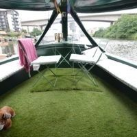 Hei Karhu (2 Cabins) - Great Haywood Boat Sales Boat Sales, Solid Fuel Stove, Narrow Boat, Vanity Basin, Central Heating, Boats For Sale, Washer And Dryer, Picnic Table, Outdoor Furniture