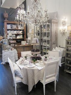 Crystal chandelier, ruffled linens, mirrored furniture-Pom Pom Interiors Beverly Hills