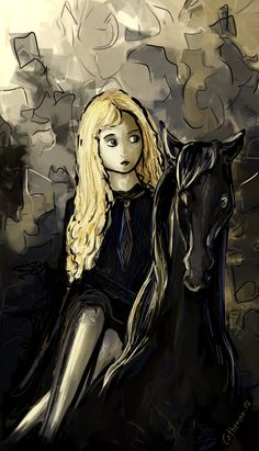 Luna Lovegood and the Thestral