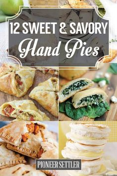 12 Sweet and Savory Hand Pies  | Easy Homemade Pies by Pioneer Settler at http://pioneersettler.com/sweet-savory-hand-pies/