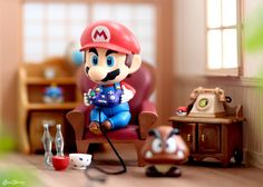 When gamer rage gets you sat at the edge of your seat - Super Mario Bros Super Mario Bros, Super Mario Brothers, Super Smash Bros, Mini Mario, Mario Y Luigi, Mario Kart, Gamer Rage, Pogo Games, Anime Figurines