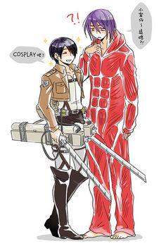 Murasakibara Atsushi x Himuro Tatsuya --- AoT cosplay, ITS SO PERF!!!