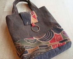 handmade bag made from old Japanese cloth