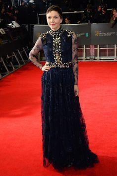 Maggie Gyllenhaal wearing @LANVINOFFICIAL – EE British Academy Film Awards #2014