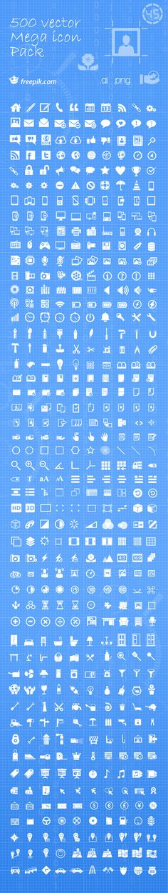 #Free download: 500 #Vector Mega #Icon Pack