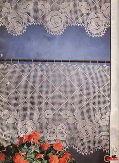 tende lino e uncinetto per cucina - Google\'da Ara | Crochet ...
