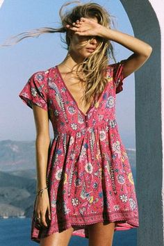 Lovebird Mini Dress - Rose - The Freedom State - 1