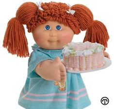 Cabbage Patch Dolls! Had this one, still have a boy doll one!