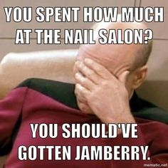 Haha! Yes, my husband loves Jamberry too! :-) captivatingcovers.jamberrynails.net  Buy 3 and get the 4th one on me!