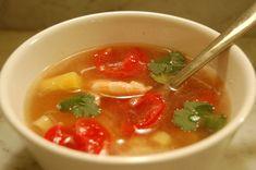 Vietnamese Sweet and Sour Shrimp Soup (Canh Chua Tom)