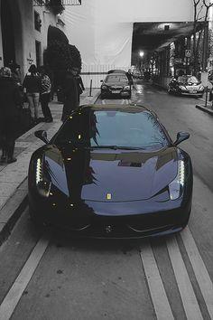 """"""" Black 458 in Paris © """""""