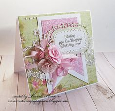 Victorian Paper Queen- Wishing you the Happiest Birthday ever card/Stampendous stamps and Spellbinders dies