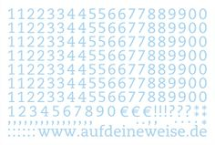 """Alphabet Sticker """"Eva"""" – pastellblau; Bogen 3 (1-0)"""