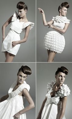 Nintai origami dresses for the avant garde bride