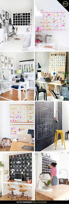 DIY INSPIRATION | Wall Calendar | I Spy DIY | Bloglovin'
